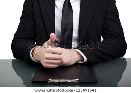 Young businessman at the office - stock photo