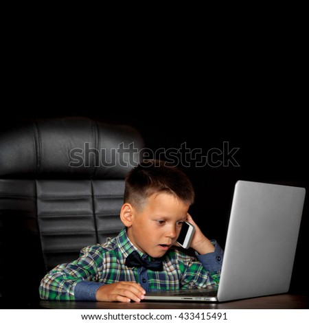 young businessman at work in the office - stock photo