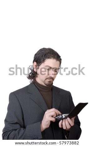 Young businessman, calculation