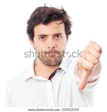 young businessman disagreement gesture - stock photo