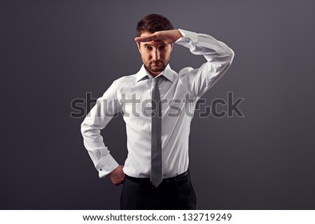 young businessman find new job - stock photo