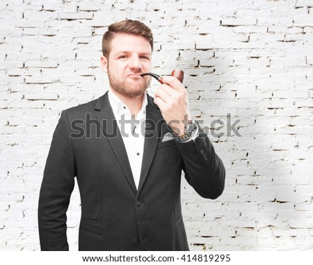 young businessman happy expression - stock photo