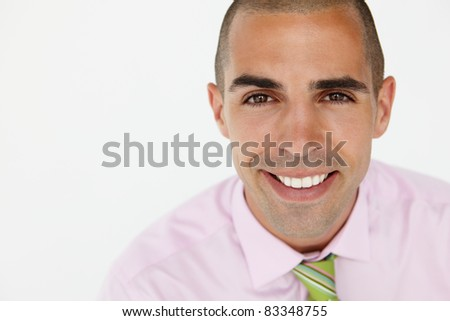Young businessman head and shoulders