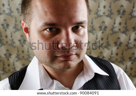 Young businessman in a break moment - stock photo