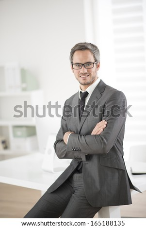 young businessman in his office - stock photo