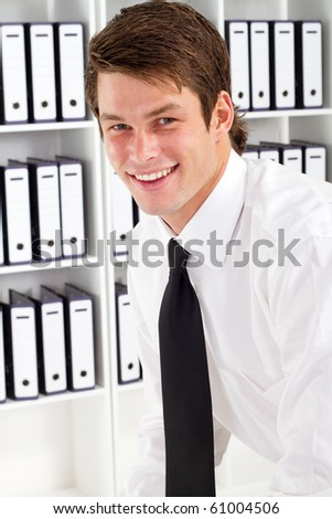 young businessman in office - stock photo