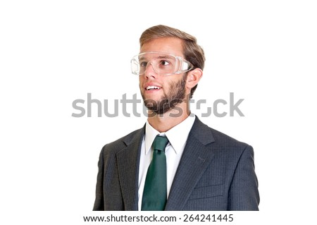 Young businessman isolated in white - stock photo