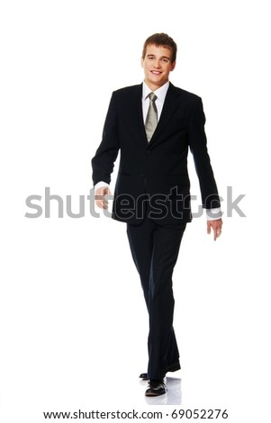 Young businessman isolated on white