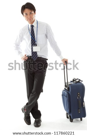 on a business trip