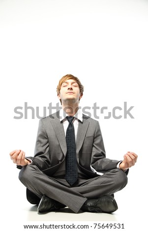 young businessman relaxing - stock photo