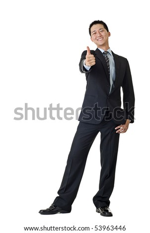 Young businessman smiling portrait isolated on white background. - stock photo