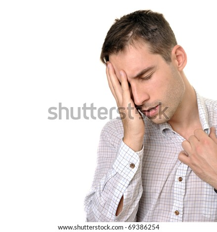 young businessman under stress - stock photo