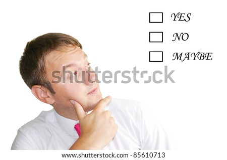 young businessman who can choose it in more opportunities - stock photo