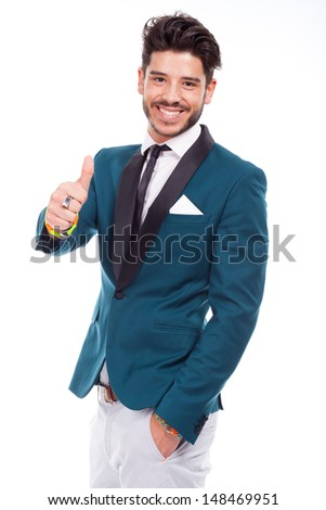 young businessman with positive attitude