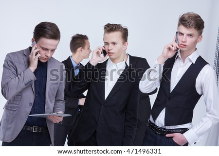 young businessmen at a meeting