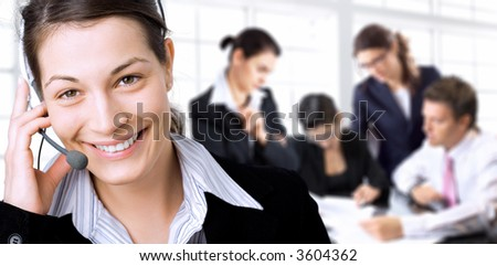 Young businesspeople having brainstorming in the office. - stock photo