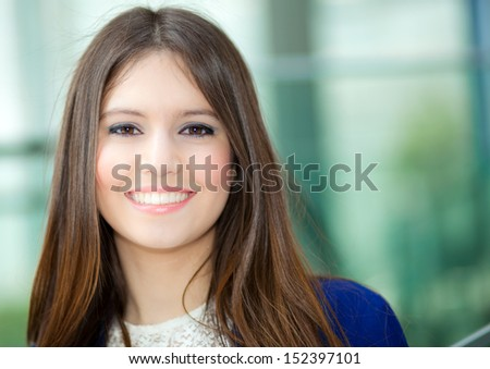 Young businesswoman in an urban setting