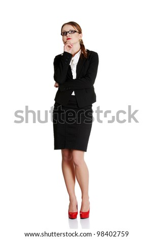 Young businesswoman in thinking. - stock photo