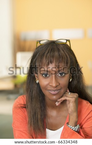 Young businesswoman posing for the camera - stock photo