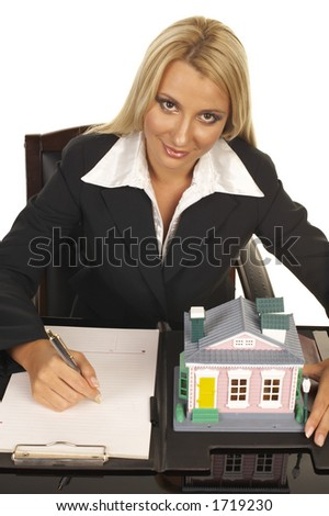 Young businesswoman - real estate agent