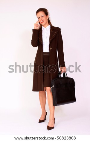Young businesswoman with briefcase