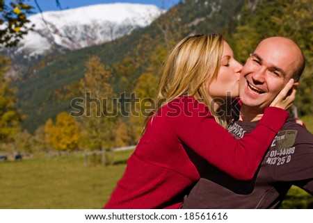 young carefree love - stock photo