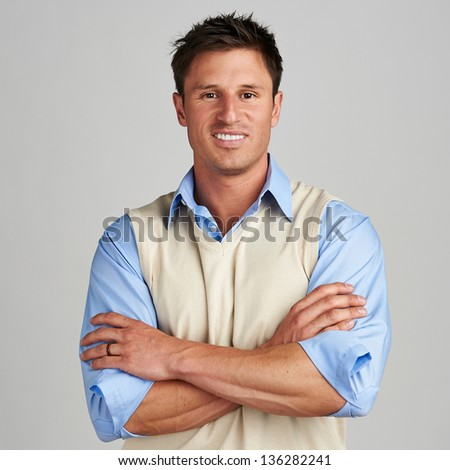 Young casual man - stock photo
