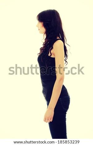 Young caucasian woman portrait - stock photo