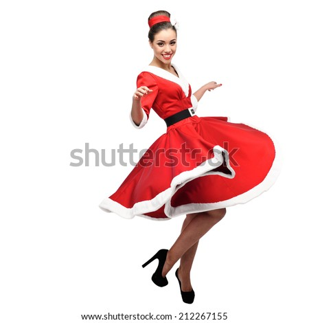 young cheerful caucasian woman  - stock photo