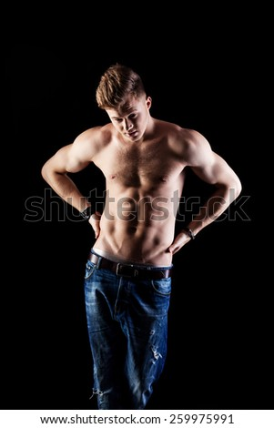 young cheerful man - stock photo
