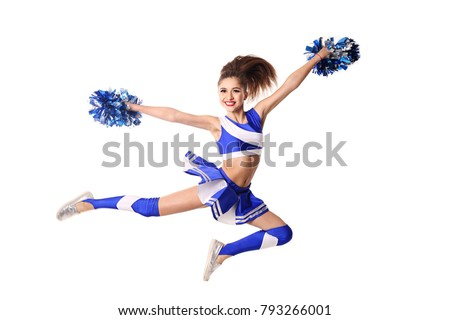 A Picture Of A Cheerleader