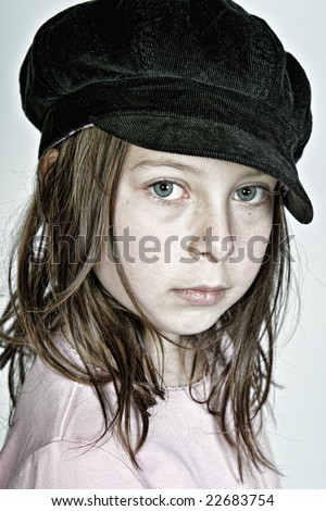 Young Child Looking Messy - stock photo