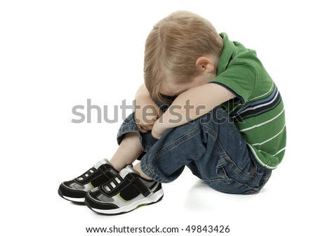 Young Child Sad and Afraid - stock photo