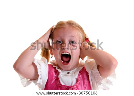 Young child screams - stock photo