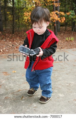 Young child with cell phone