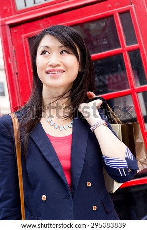 young chinese tourist in london