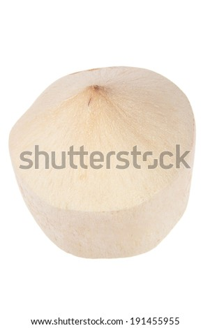 Young Coconut on White Background - stock photo