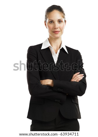 Young confident business woman - stock photo