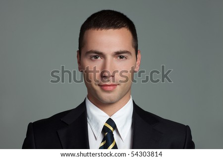 young confident man - stock photo