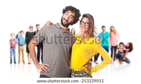 young cool couple - stock photo