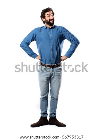 Young Cool Man Full Body Proud Stock Photo 567953317 ...