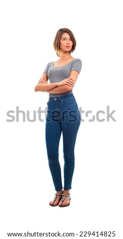 young cool woman proud concept - stock photo