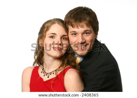 Young couple embracing - stock photo