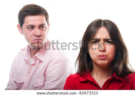 Young couple facing relationship problems - stock photo