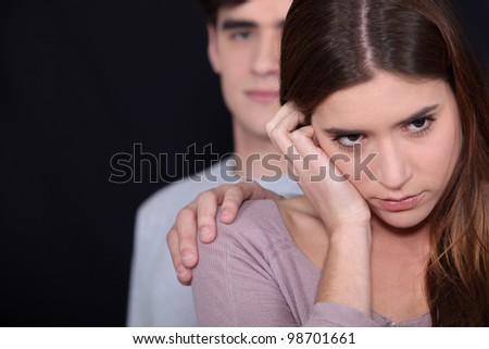 Young couple going through rough patch - stock photo