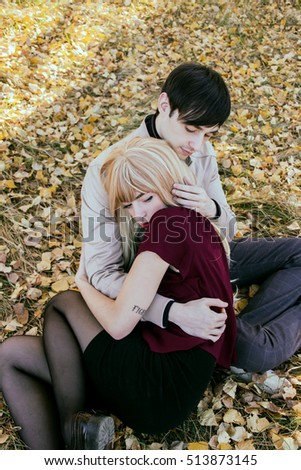 Sad couple hugging stock images royalty free images - Beautiful sad couple images ...