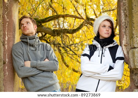 Young couple in trouble - stock photo