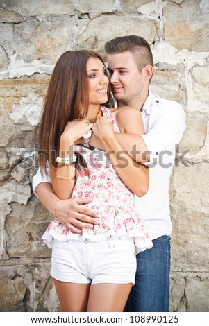 Young couple lost in love - stock photo