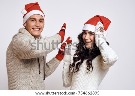 young couple, love story, New Year's background