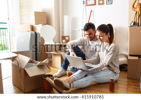 Stock photos royalty free images vectors shutterstock - Young couple modern homes ...